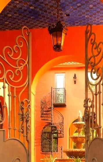 Courtyard, Tuscany, Italy