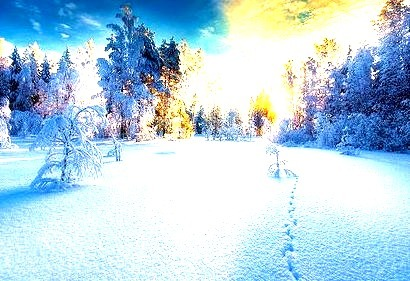 Snow Sunset, Finland