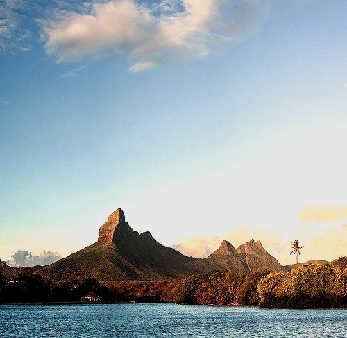 by Michele F. on Flickr.Tamarin Bay with Trois Mamelles and Montagne du Rempart - Mauritius, Indian Ocean.