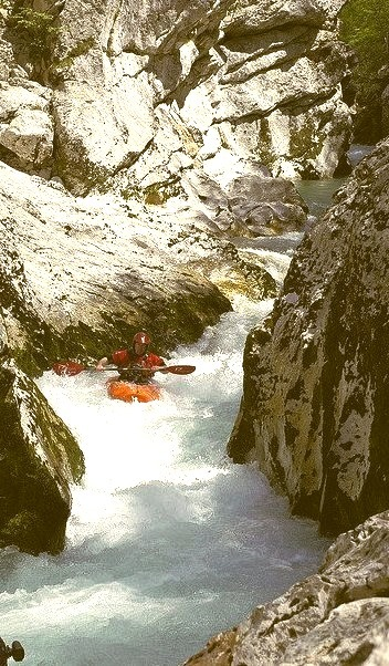 by GavinParry on Flickr.Kayaking on Soca River - Dinaric Alps, Slovenia.