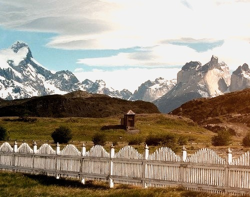 by samuellebarron on Flickr.Torres del Paine National Park seen from the visitors center in Patagonia, Chile/Argentina.
