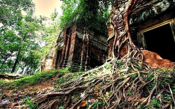 by Bob Lawlor on Flickr.Prasat Pram temples in Koh Ker, former capital of the khmer empire, Cambodia.