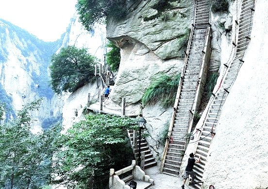 by Asif Saeed on Flickr.The hiking trails of Huashan, a sacred Taoist mountain located in Shaanxi Province, China.