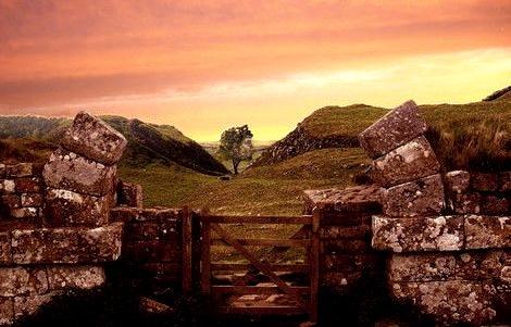 Ancient Hadrian's Wall, Northumberland, England
