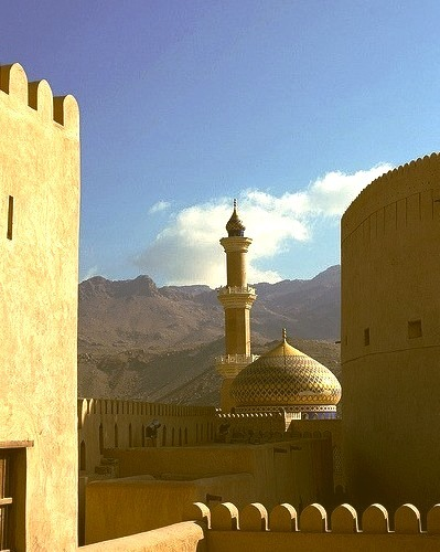 by Eric Lafforgue on Flickr.Nizwa fort and mosque in Oman.