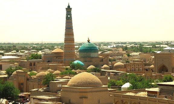 Islam Khoja Minaret in Khiva, Uzbekistan