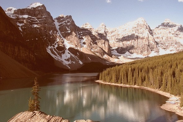 Valley of the ten peaks and Moraine Lake, Banff NP, Canada