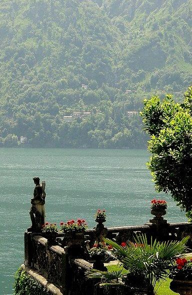 Terrace of Villa Balbianello, Lake Como, Italy