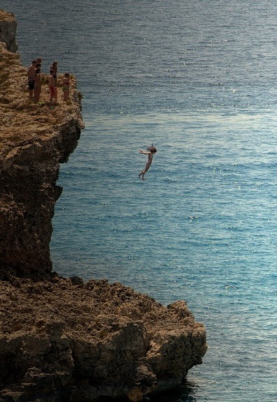 Jumping in the Mediterranean, Camino Island, Malta