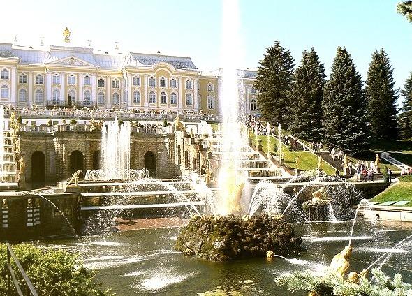 The Grand Cascade at Peterhof Palace, Stank Petersburg, Russia