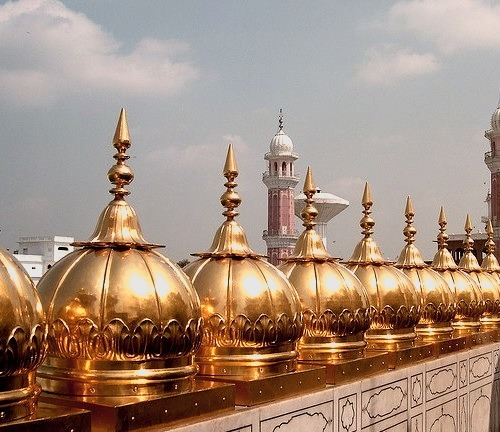 Rooftop view at The Golden Temple in Amritsar, Punjab, India