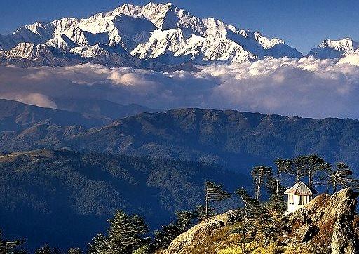 The summit of Kanchenjunga  viewed from Sandakphu, Sikkim, India