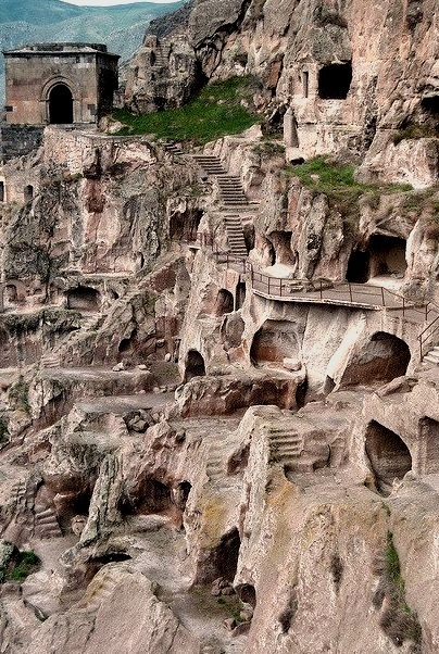 The ancient cave monastery of Vardzia in southern Georgia