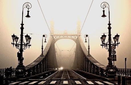 Fog Bridge, Budapest, Hungary