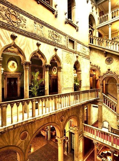 Stairways, Hotel Danieli, Venice, Italy