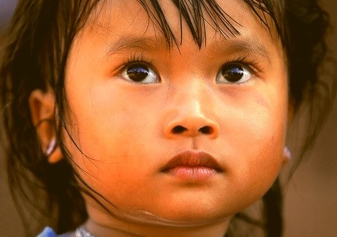 Phunoi ethnic girl in the village of Ban Dong, northern Laos