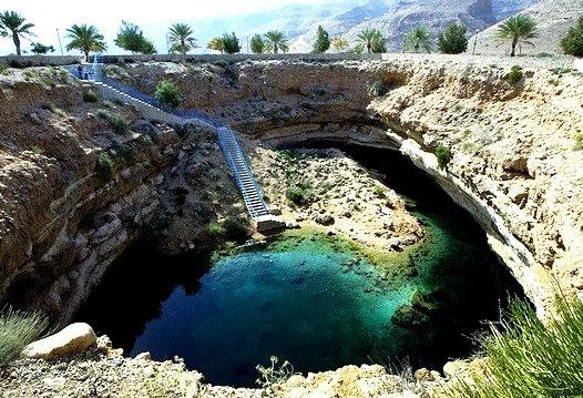 Bimmah Sinkhole in Hawiyat Najm Park, Oman