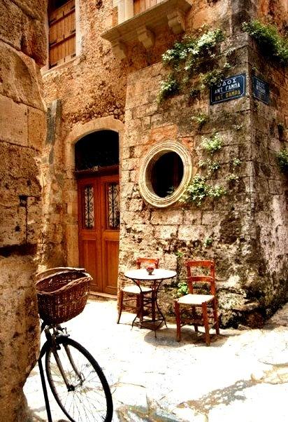 Ancient Street Corner, Isle of Crete, Greece