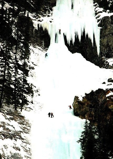 Frozen Waterfall Climbing, Lake Louise, Canada