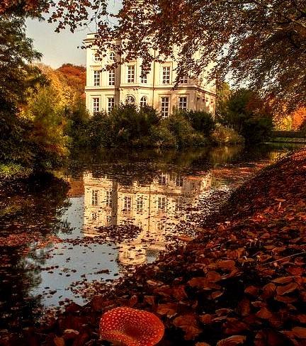 In the gardens of Hof ter Saksen Castle, Beveren, Belgium