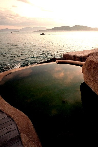 Pool at Six Senses Hideaway in Ninh Van Bay, Vietnam