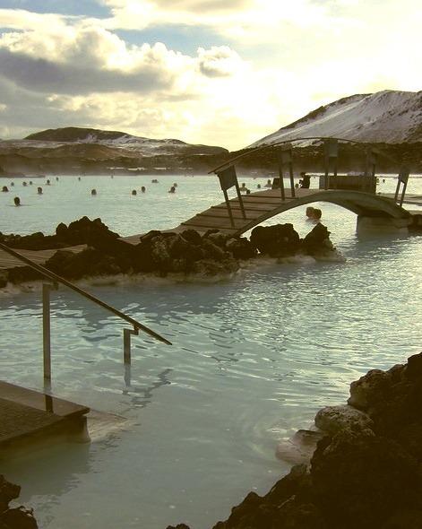 Bridge over the Blue Lagoon, Iceland
