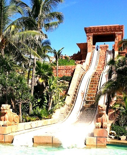 The Challenger Slide at Atlantis on Paradise Island, Bahamas