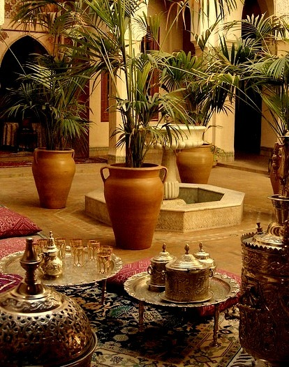 The courtyard at Riad Kniza in Marrakech / Morocco