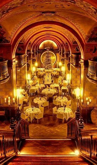 Beautiful baroque architecture at Kornhauskeller cellar restaurant in Bern / Switzerland