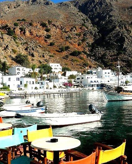 Picturesque village of Loutro, Crete Island / Greece