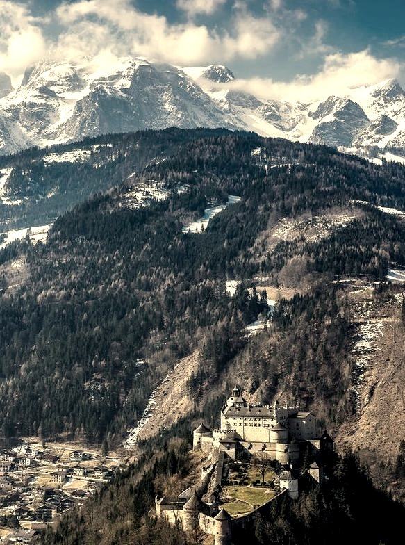 The castle and the mountains, Burg Hohenwerfen / Austria
